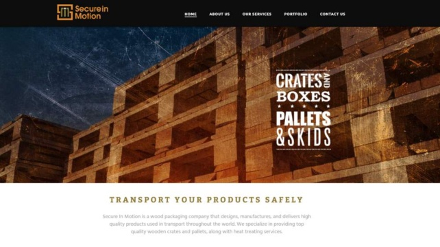 New Website Design - Secure in Motion