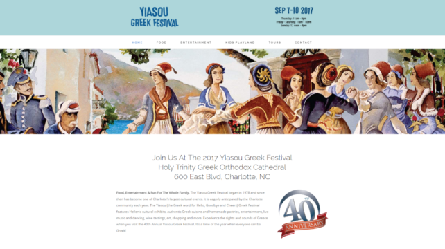 New Website Design - Yiasou Greek Festival