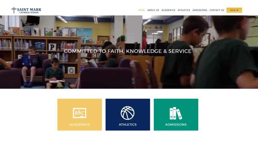 New Website Design - St Mark Catholic School