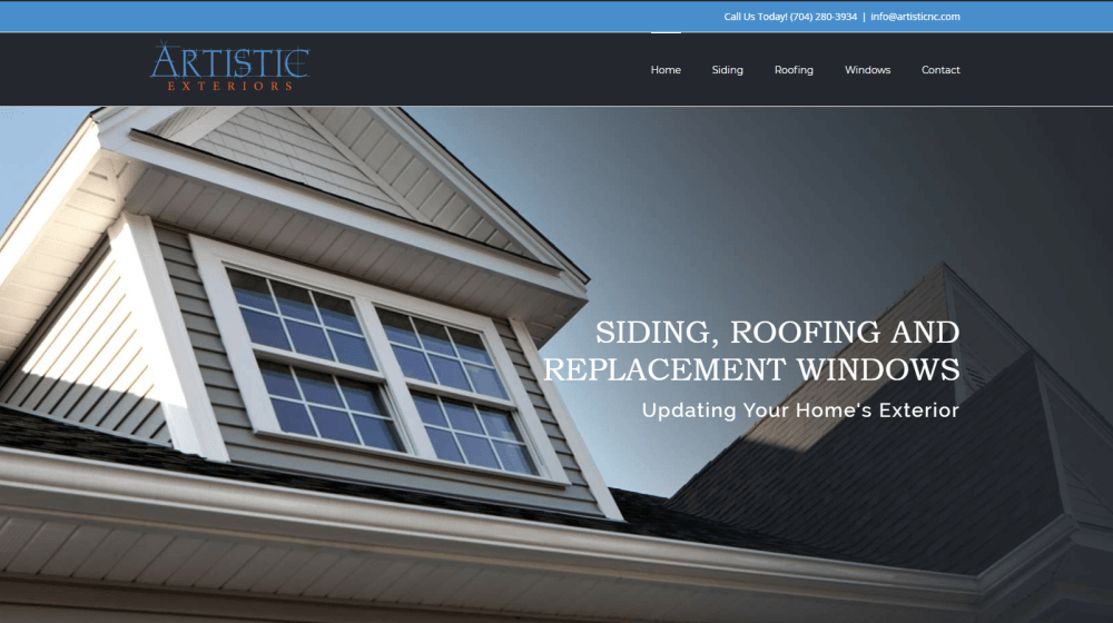 New Website Design - Artistic Exteriors