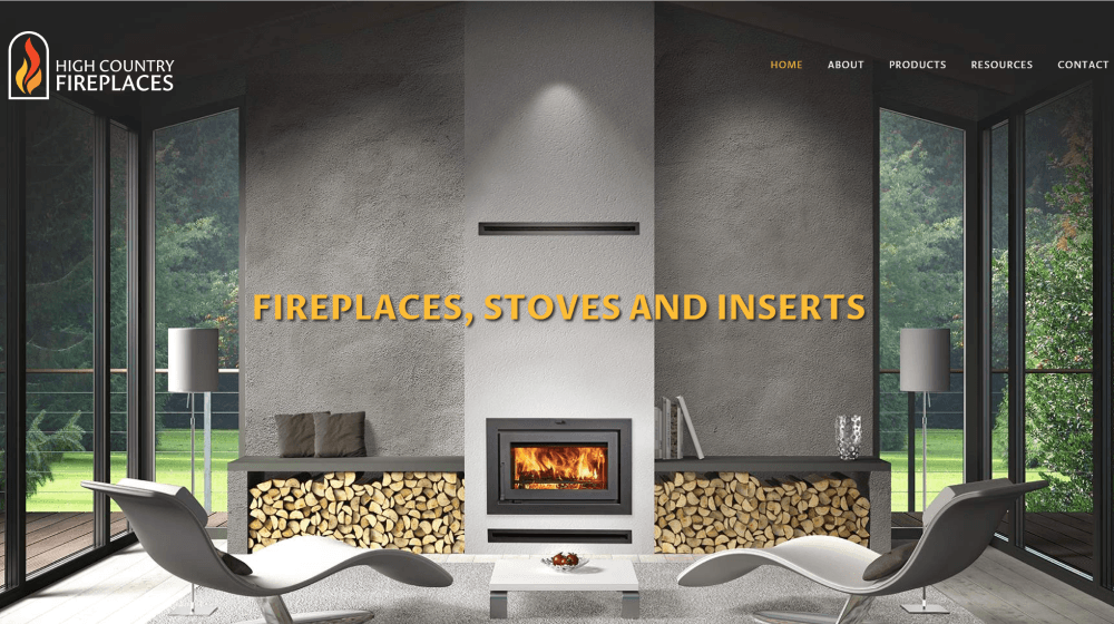 New Website Design - High Country Fireplaces
