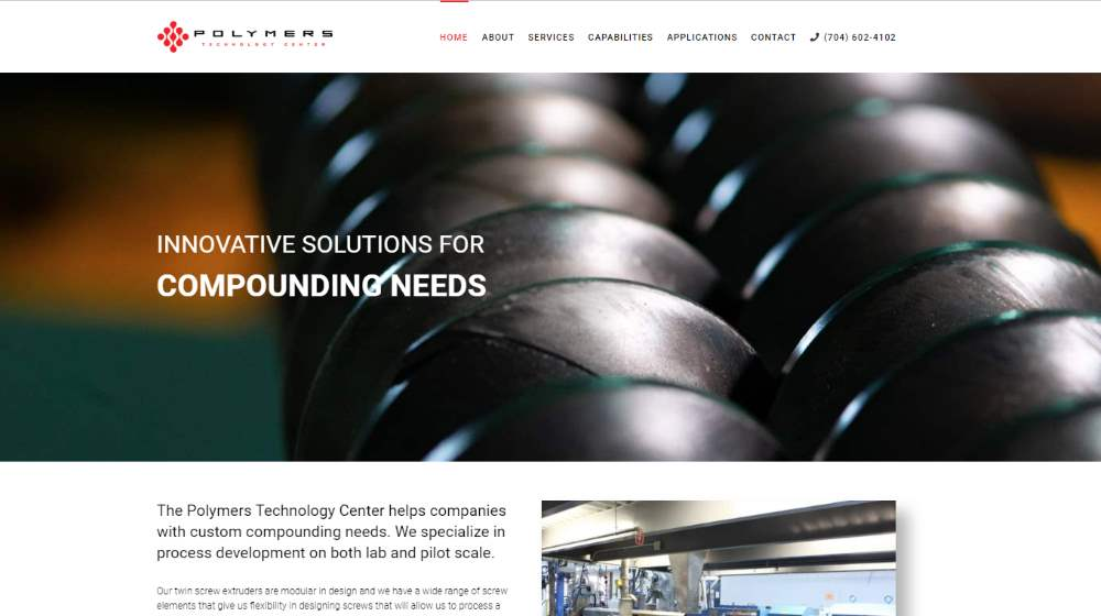 New Website Design - Polymers Technology Center