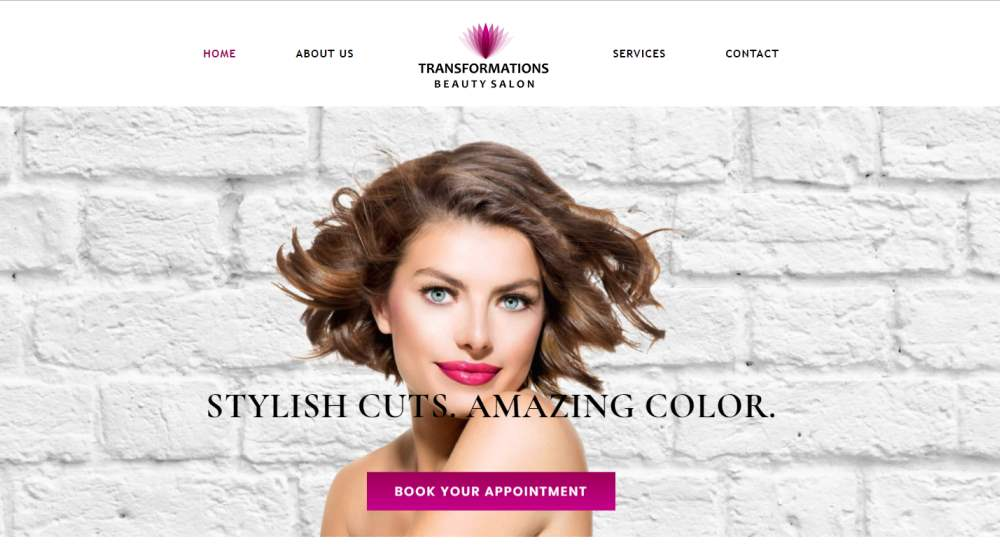 New Website Design - Transformations Beauty Salon